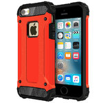 Military Defender Shockproof Case for Apple iPhone SE / 5s / 5 - Red